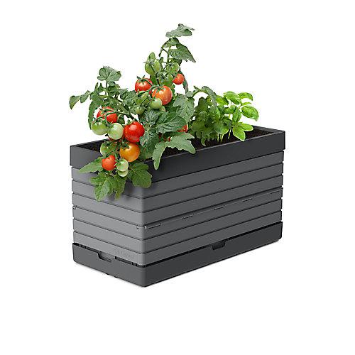 PMGGG-  Planter for Modular Garden, grey  Perfect for balcony gardens