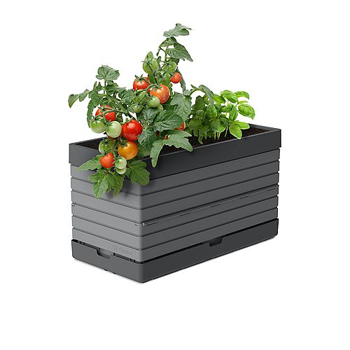 PMGGG- Bac pour jardin modulaire, gris - Idéal pour les balcons