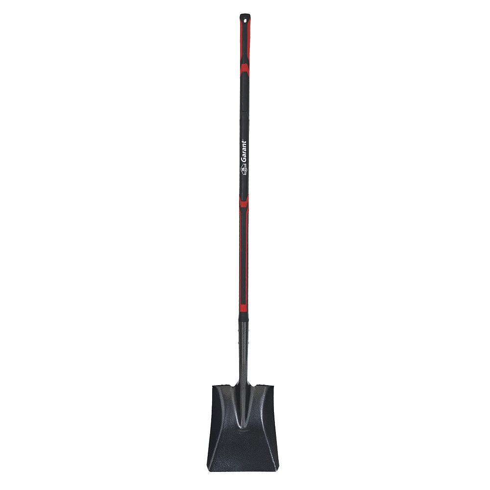 Garant Pro Series Long Fibreglass Handle Square Point Blade Forward Steps Shovel