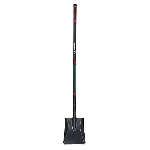 Long Fibreglass Handle Square Point Blade Forward Steps Shovel