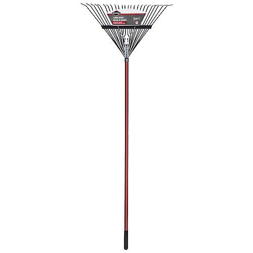 24-Steel Tines Springback Lawn Rake