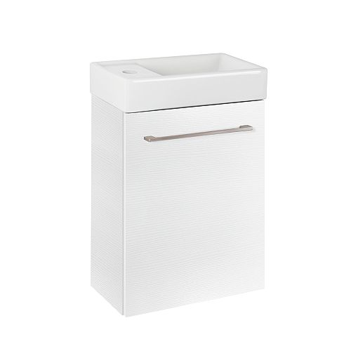 Glacier Bay Clarence 16-inch Wall Hung Bathroom Vanity in White with Reversible Ceramic Top