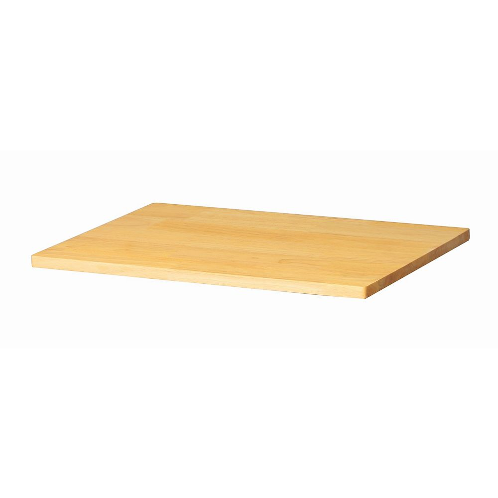 Husky 0.8-inch x 24-inch x 16-inch Solid Wood Top for Welded 24-inch Base Cabinets