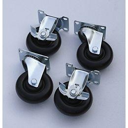 4-inch Black Caster Kit for Welded Steel Garage Cabinets