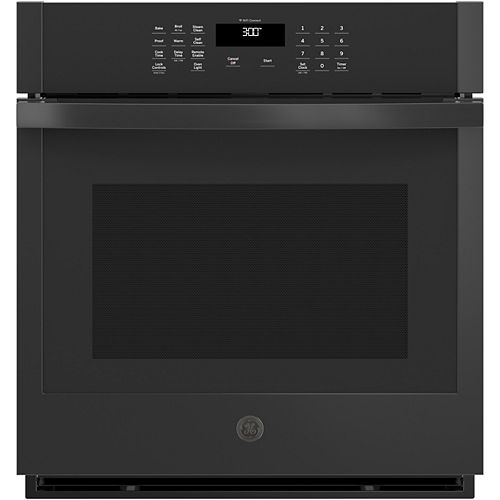 27-inch W Smart Single Electric Wall Oven Self-Cleaning in Black