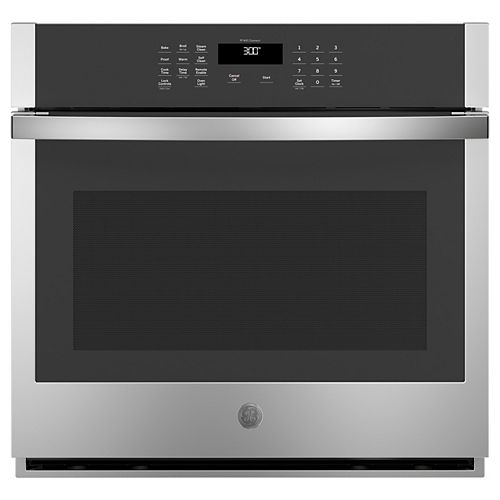 30-inch W Smart Single Electric Wall Oven Self-Cleaning in Stainless Steel