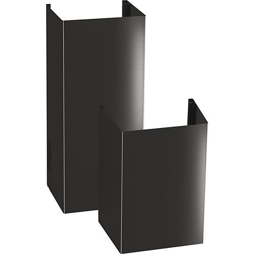 9ft. Ceiling Duct Cover Kit in Black Stainless