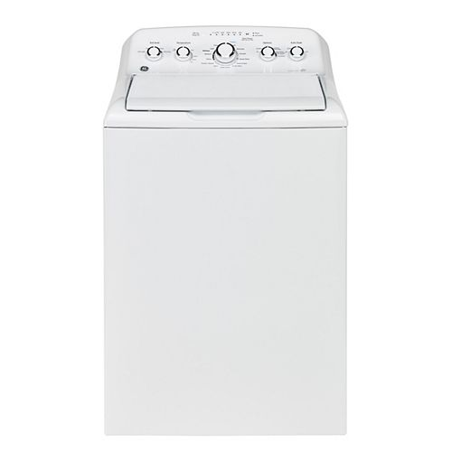 GE 5.0 (IEC) Cu. Ft. Top Load Washer with Stainless Steel Drum in White