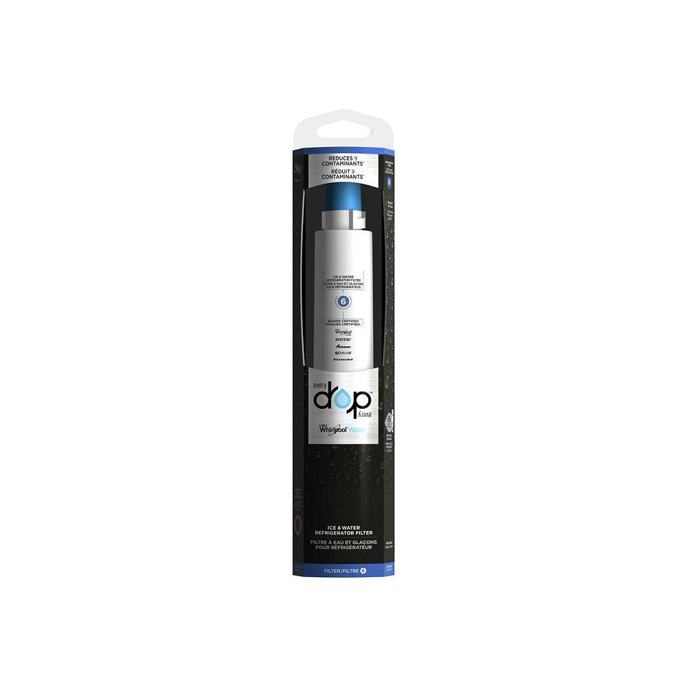 EveryDrop Réfrigérateur à eau et glace Filtre 6 pour Whirlpool, Maytag, KitchenAid, Amana