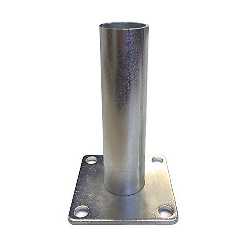 Ancrage Spybase 112 (pour poteaux ronds 1 1/2-po)-pqt de 6