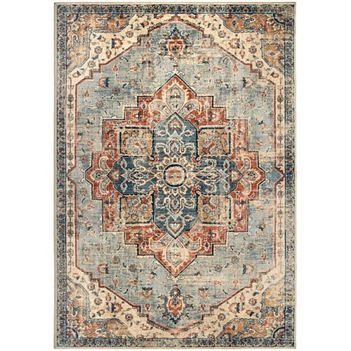 King Fisher Pale Blue 5 ft.3-inch x 7 ft. 6-inch Indoor Area Rug