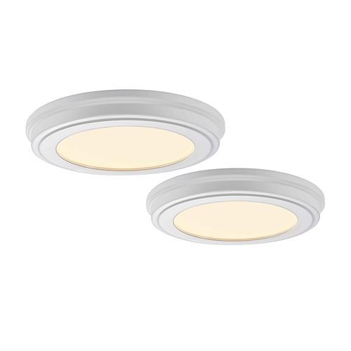 11-inch LED Flushmount Lighting Fixture (2-Pack)