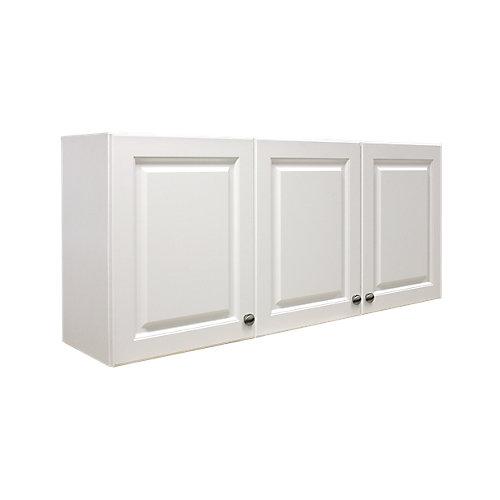 Armoire de buanderie à 3portes rectangulaire Florence, panneaux en relief en thermoplastique, blanc