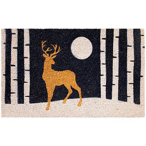 Multy Home Paillasson intérieur/extérieur rectangulaire à motif Cerf au clair de lune 18po x 30po