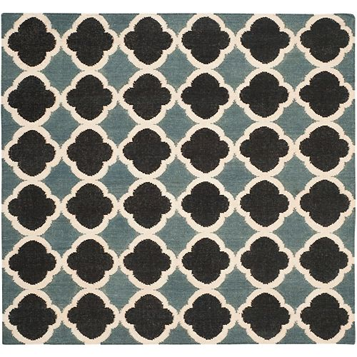 Safavieh Dhurries Phyliss Blue / Navy 6 ft. X 6 ft. Square Area Rug