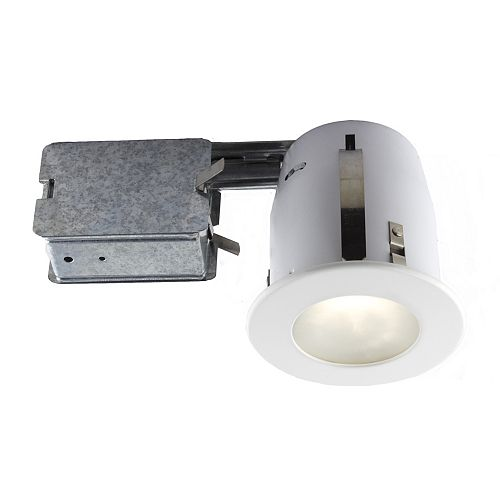 4-inch White Recessed Fixture Kit for Damp Locations