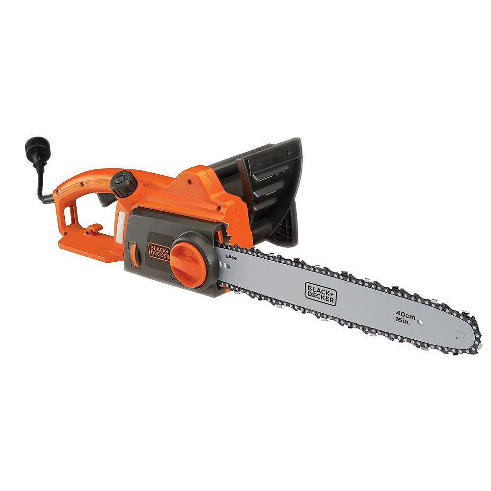 Black + Decker 16-inch 12-Amp Corded Electric Chainsaw CS1216