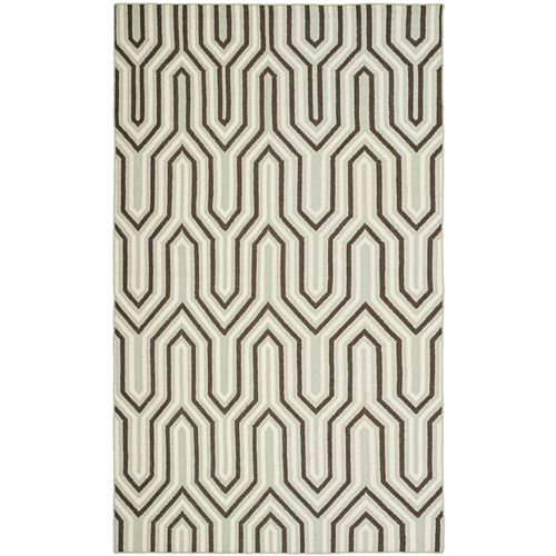 Safavieh Dhurries Molly Grey / Multi 6 ft. X 9 ft. Area Rug