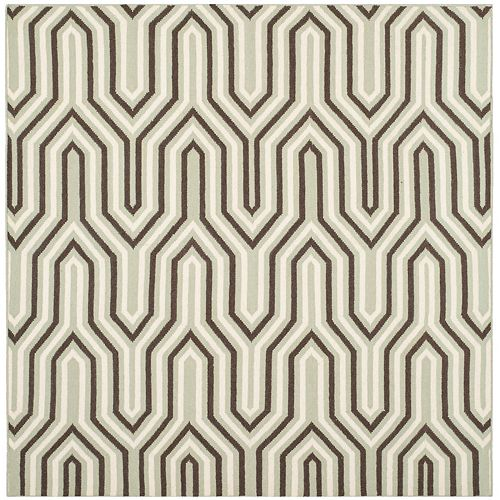 Safavieh Dhurries Molly Grey / Multi 6 ft. X 6 ft. Square Area Rug