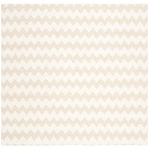 Safavieh Dhurries Horace Beige / Ivory 6 ft. X 6 ft. Square Area Rug