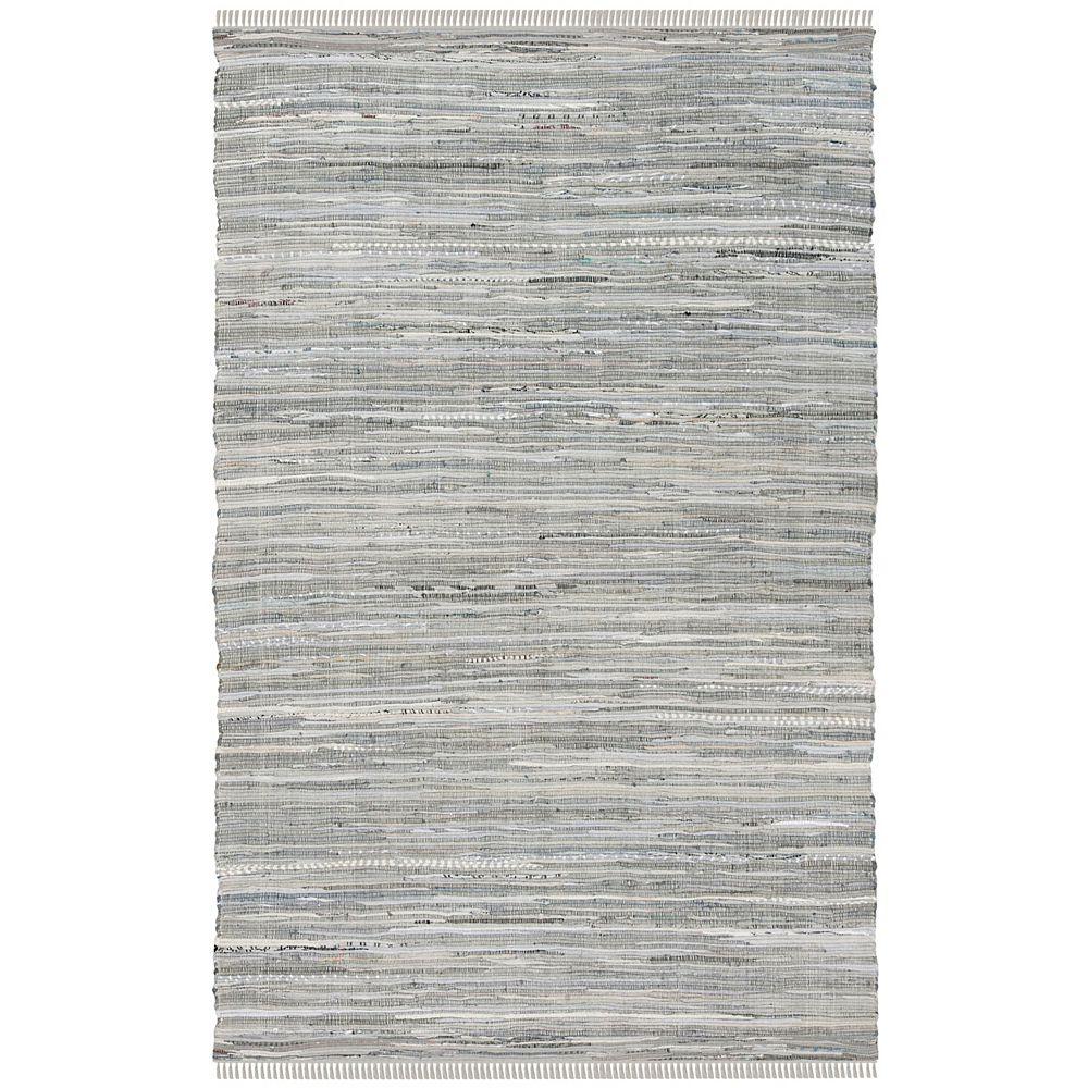 Safavieh Rag Rug Calanthe Grey 5 ft. X 8 ft. Area Rug