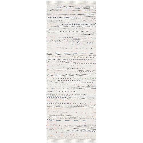 Rag Rug Calanthe Ivory / Multi 2 ft. 3-inch X 6 ft. Runner