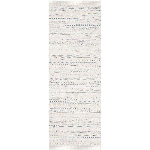Tapis de passage d'intérieur, 2 pi 3 po x 6 pi, Rag Rug Calanthe, ivoire / multi
