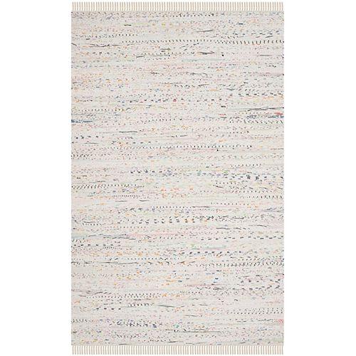 Tapis d'intérieur, 5 pi x 8 pi, Rag Rug Calanthe, ivoire / multi