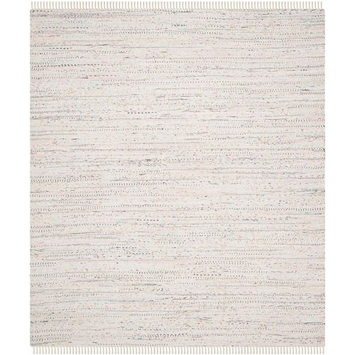 Tapis d'intérieur, 8 pi x 10 pi, Rag Rug Calanthe, ivoire / multi