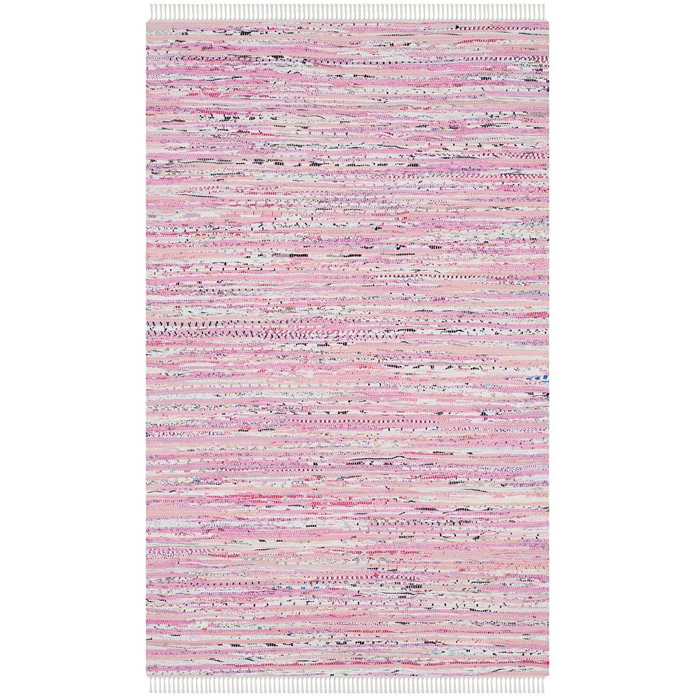 Safavieh Rag Rug Ronnie Light Pink / Multi 4 ft. X 6 ft. Area Rug