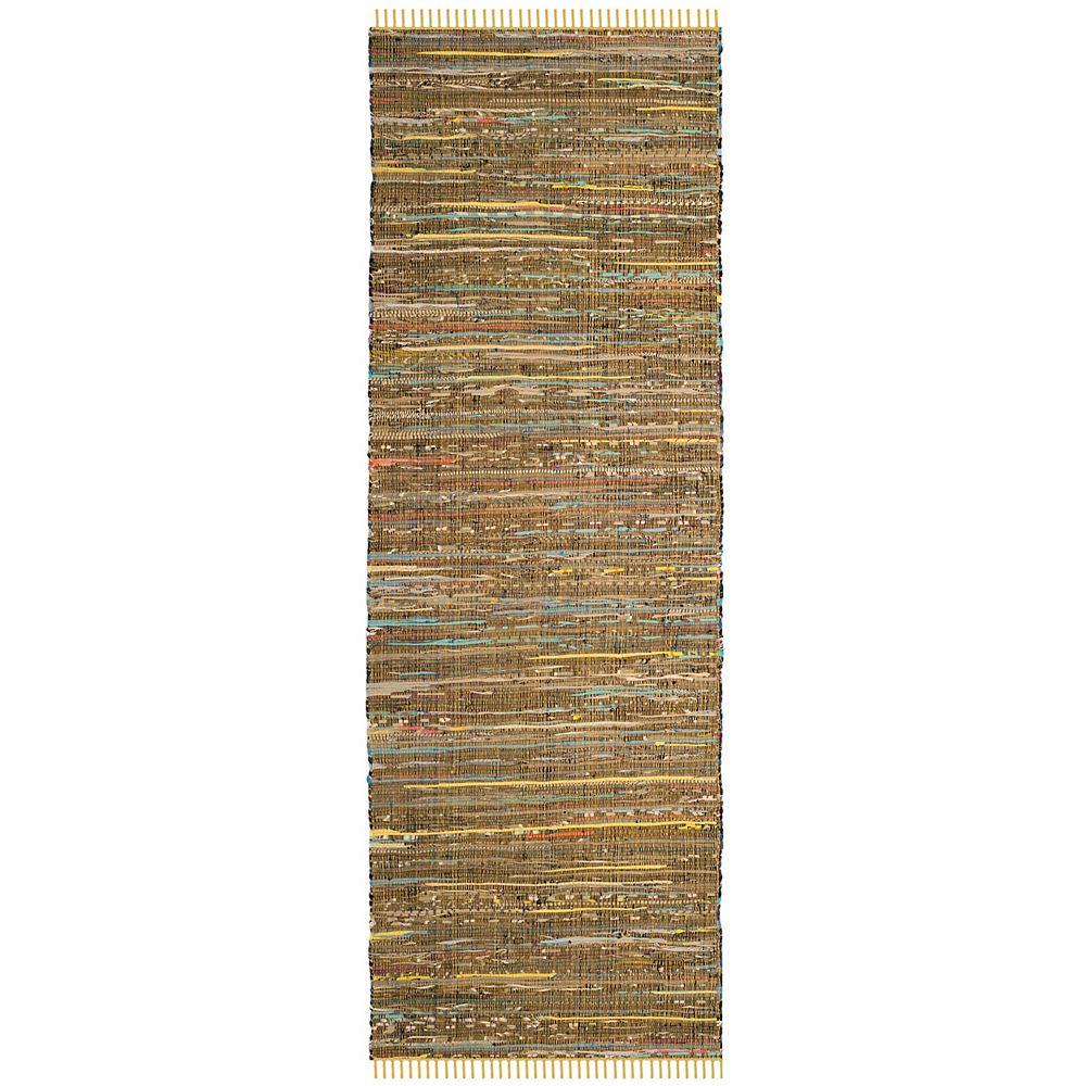 Safavieh Rag Rug Lennox Yellow / Multi 2 ft. 3-inch X 5 ft. Runner