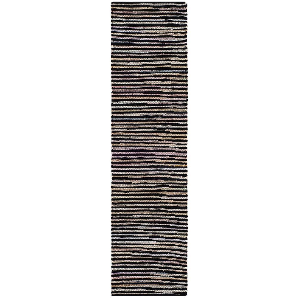 Safavieh Rag Rug Emmet Black / Multi 2 ft. 3-inch X 12 ft. Runner