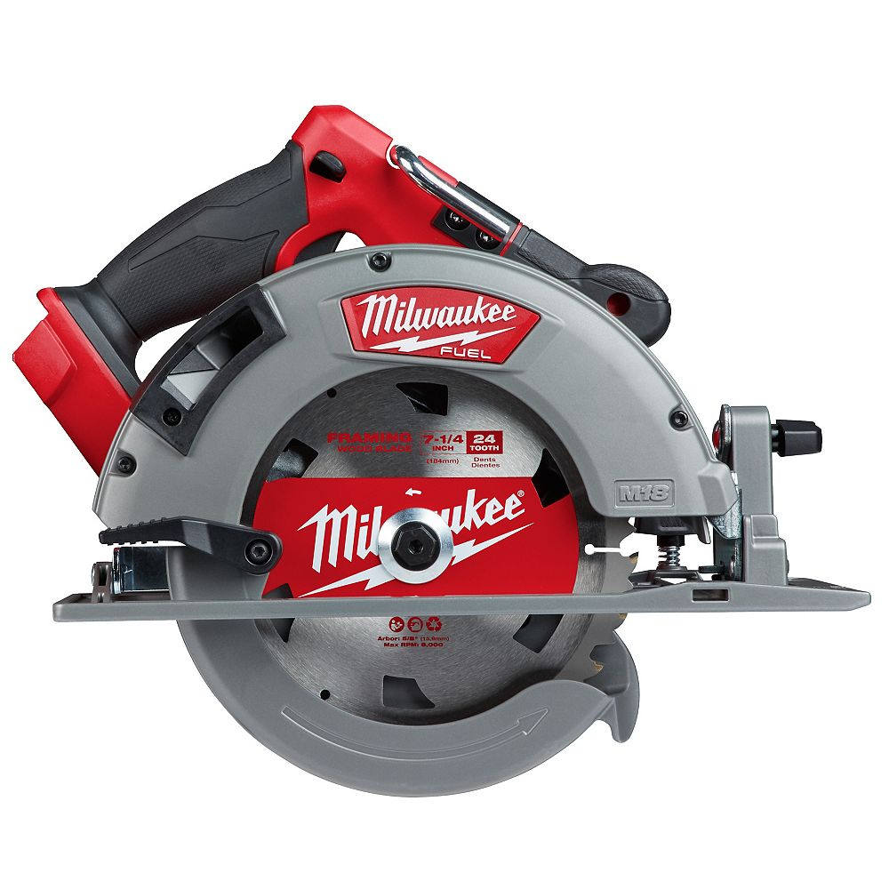 Milwaukee Tool M18 FUEL 18V Lithium-Ion sans fil 7-1/4 -inch Scie circulaire (outil seulement)