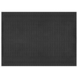 Dash Black 4 ft. x 6 ft. Heavy Duty Rectangular Rubber Door Mat