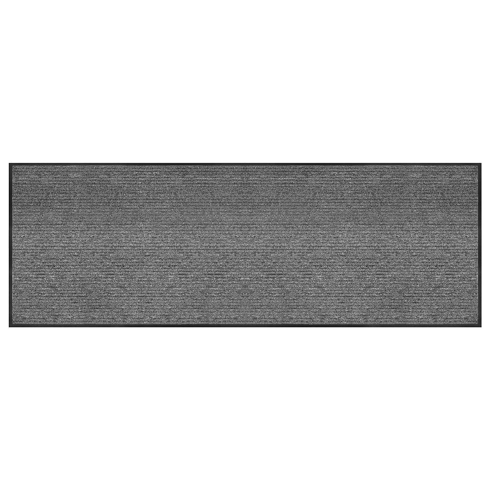 Multy Home Barcelona Grey 3 ft. x 8 ft. Commercial Floor Runner and Scraper