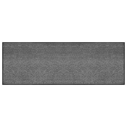 Multy Home Tapis gratte-pieds commercial de couloir, 3 pi x 8 pi, Barcelona gris