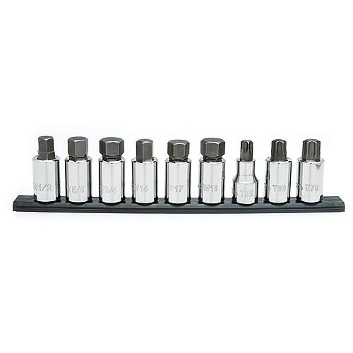 1/2 inch Drive Torx and Hex Bit Socket Set (9-Piece)