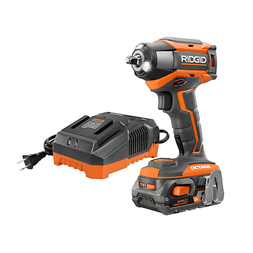 18V OCTANE Cordless Brushless 3/8 -inch 6-Mode Impact Wrench Kit with 2.0 Ah Battery and Charger