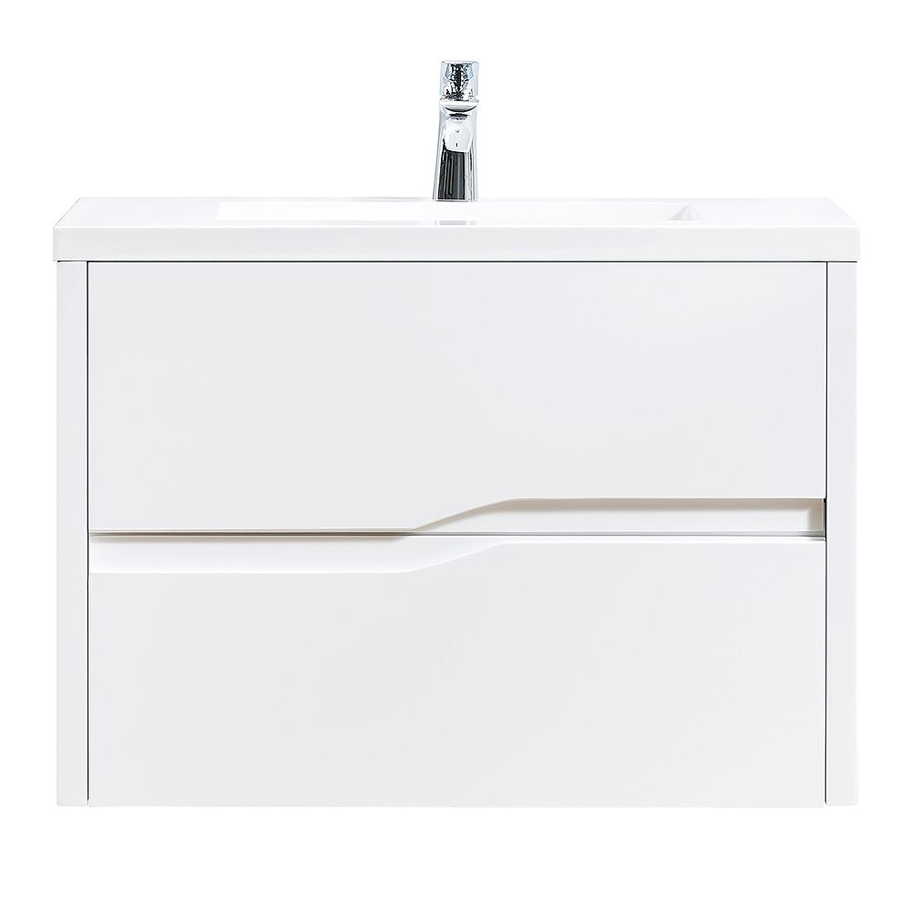Home Decorators Collection Lizabetha 32 Inch W X 18 Inch D Vanity In Matte White With Resi The Home Depot Canada