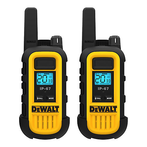 250,000 Sq. ft. FRS/GMRS Heavy Duty 1 Watt Two-Way Radio Set - Two Pack