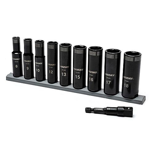 3/8 inch Drive Thin Wall Deep Impact Socket Set MM (10-Piece)