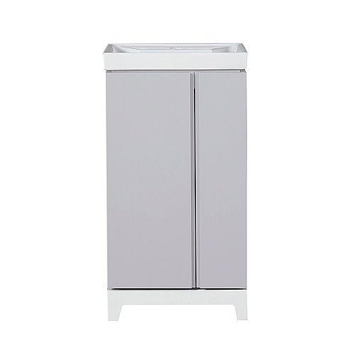 Glovertown 18 inch Grey Vanity Bathroom Cabinet