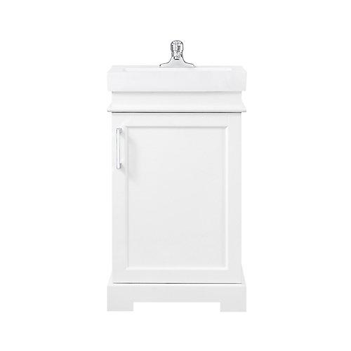 Hallcrest 20 inch combo with mirror White Vanity Bathroom Set