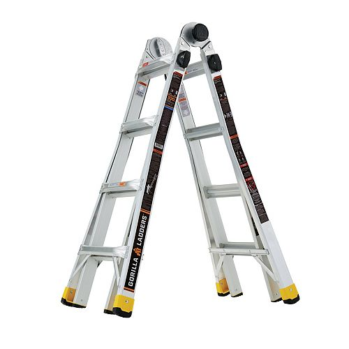 18 ft. Reach MPX Aluminum Multi-Position Ladder, 300 lbs. Load Capacity Type IA Duty Rating