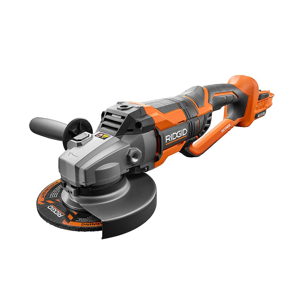 RIDGID 18V OCTANE Cordless Brushless 7-Inch Dual Angle Grinder (Tool Only)