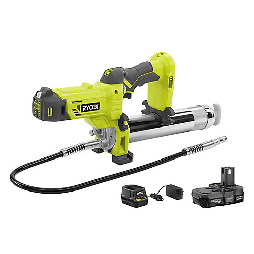 18V ONE+ Lithium-Ion Cordless Grease Gun Kit with 1.3 Ah Battery and Charger