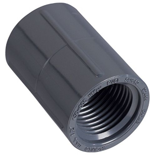 Orbit 1/2 inch FNPT PVC Coupling: Grey