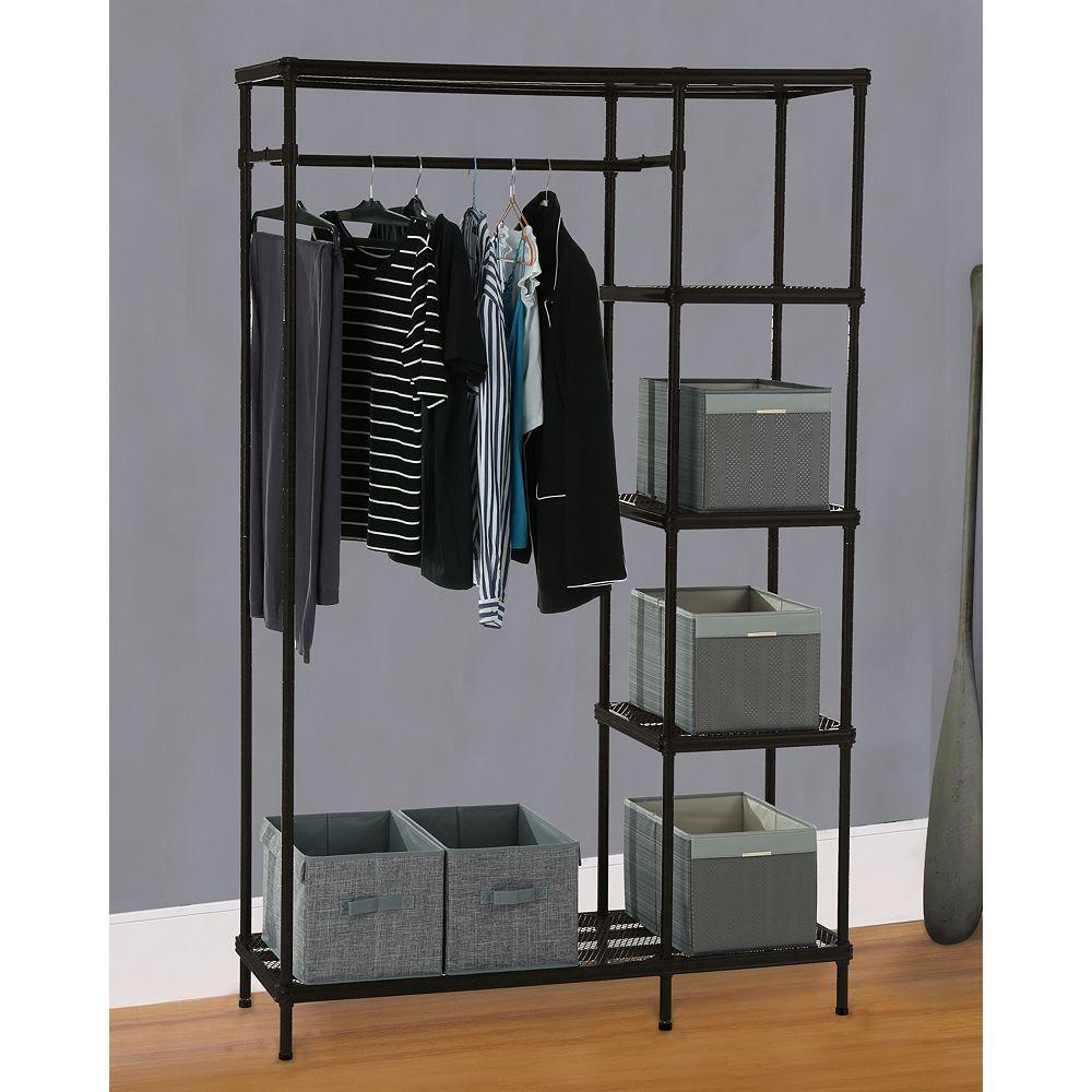 HDG Free-Standing Mesh Combo Closet Organizer in Matte Black