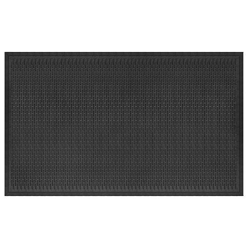 Dash Black 3 ft. x 5 ft.. Heavy Duty Rectangular Rubber Door Mat