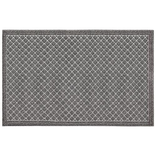Contour Charcoal 3 ft. x 5 ft. Faux Coir Rectangular Door Mat